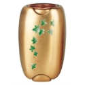 Picture of Flower vase decorated for gravestones - Olpe ivy - Bronze