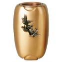 Picture of Flower vase with doves - Olpe Volo - Bronze