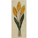 Mosaico raffigurante un mazzo di tulipani gialli
