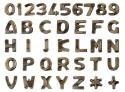 Lettere e numeri modello ITALIANO BRONZO GLITTER