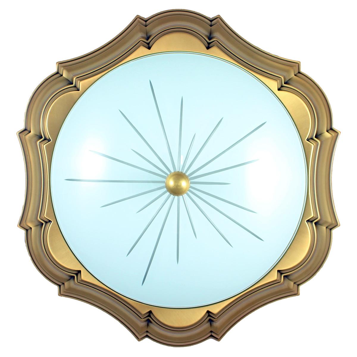 Imagem de Plafoniera in bronzo - Stile classico - Diametro 40,5 cm
