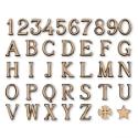 Alfabeto lettere per lapidi in bronzo finitura lucida
