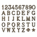 Lettere e numeri per lapidi - Romano Bronzo Glitter