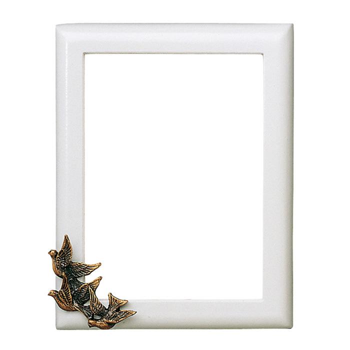 Cornice porta foto rettangolare finitura bianca con for Cornice bianca foto