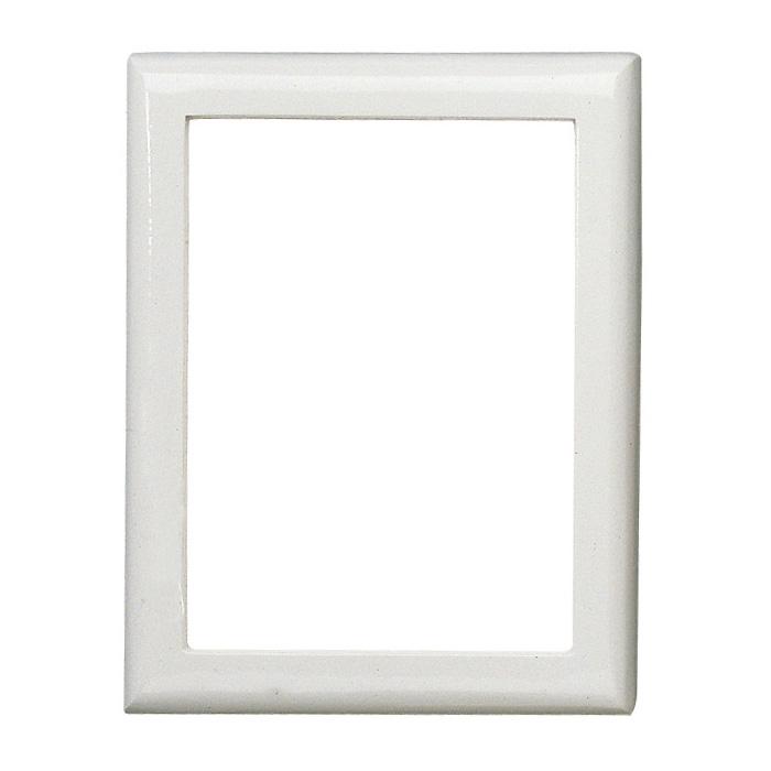 cornice porta foto rettangolare finitura bianca linea