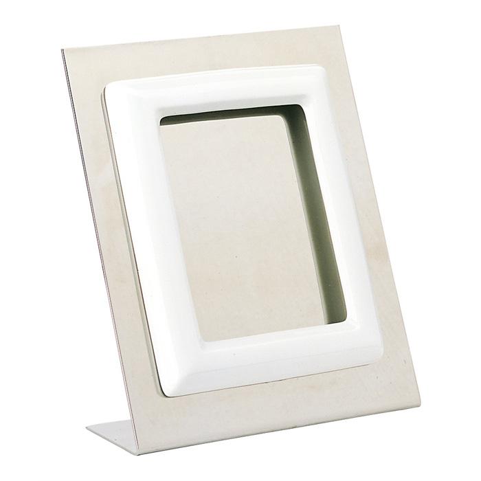 Cornice porta foto rettangolare bianca montaggio a terra for Cornice bianca foto