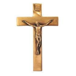 Croce.Croce In Bronzo Semplice Con Crocifisso Real Votiva Store