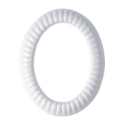Picture of Oval photo frame - Empire - White