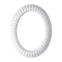 Immagine di Cornice porta-foto ovale - Linea Impero - Bianco - Porcellana