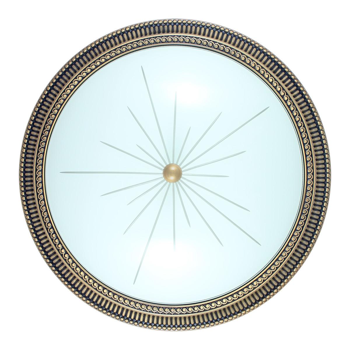 Immagine di Plafoniera in bronzo - Stile rigato - Diametro 50,6 cm