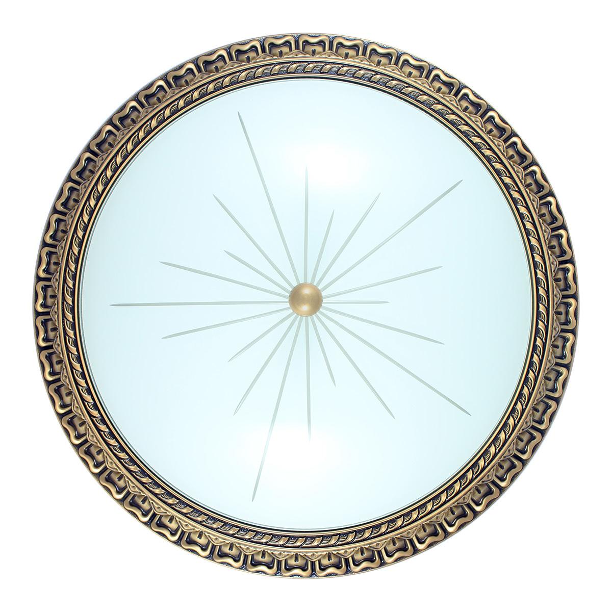 Immagine di Plafoniera in bronzo - Stile decorato - Diametro 50,6 cm