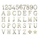 Изображение Бронзовые буквы и цифры для надгробий. Римская модель. Белая и золотая отделка
